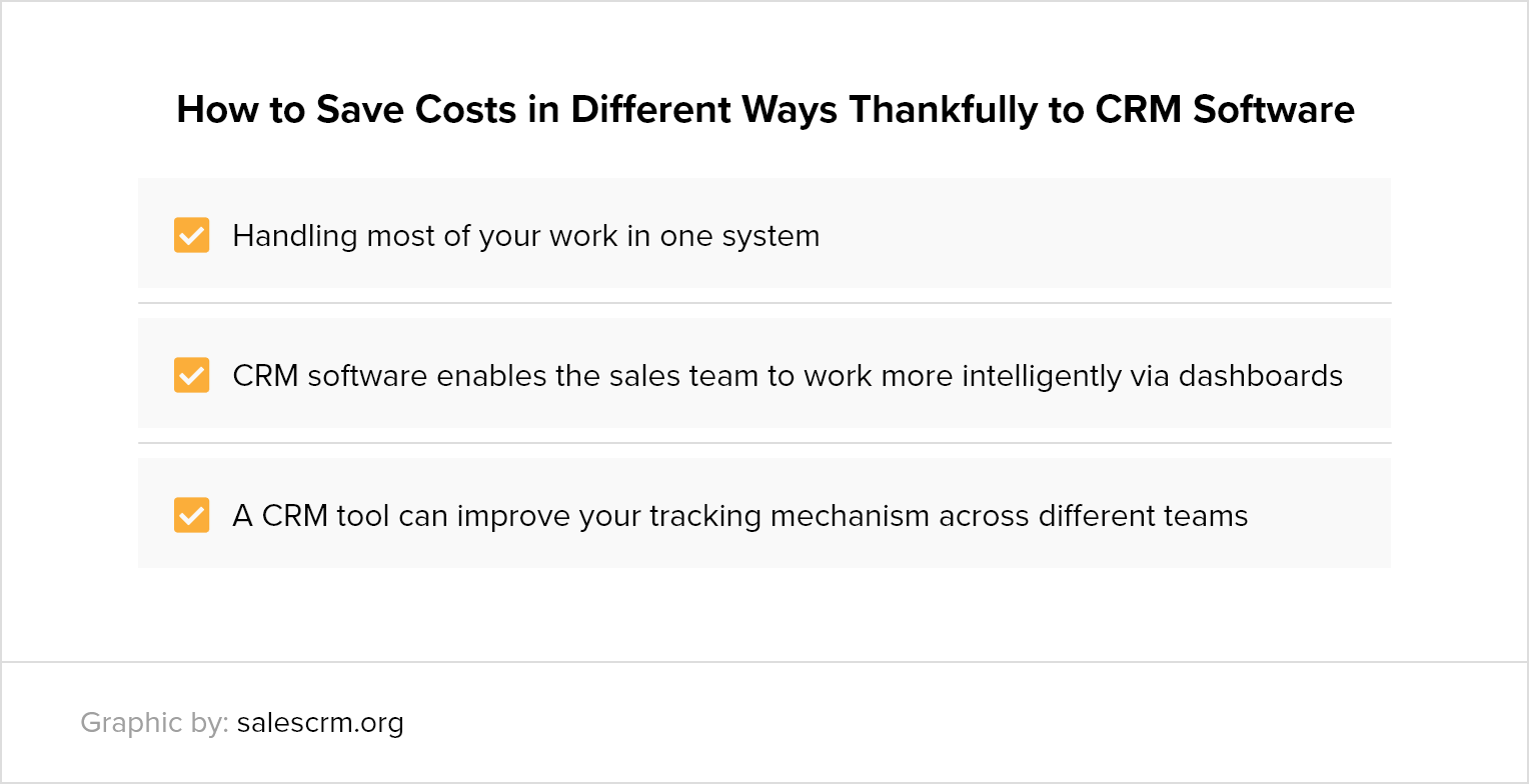 how to save costs thanks to CRM software
